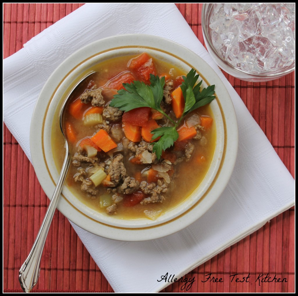 Basic Hamburger Vegetable Soup | Allergy Free Test Kitchen