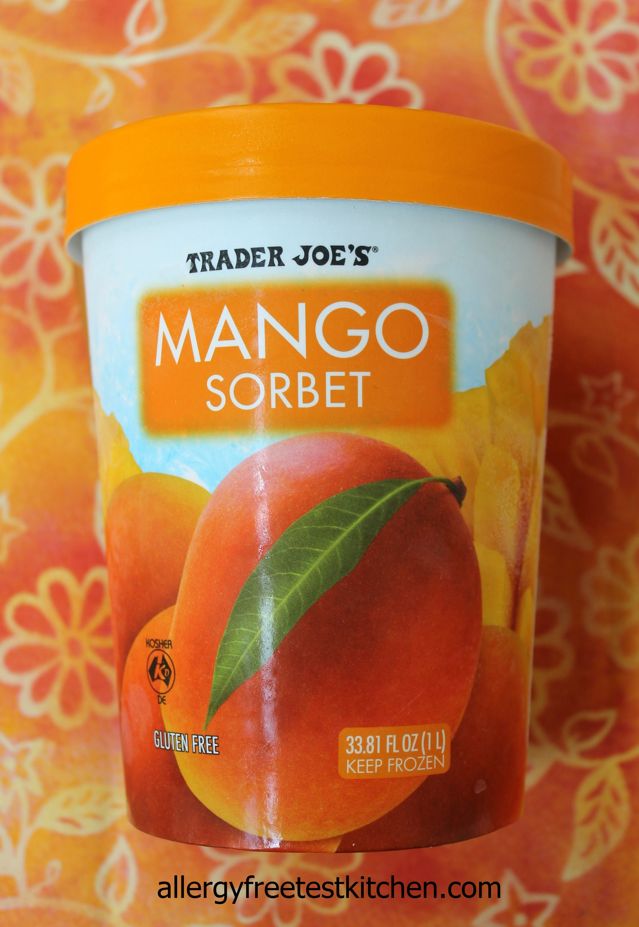 ... during my last trip to Trader Joe's and bought this Mango Sorbet